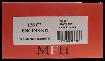 KE007  Ferrari 126C2 Engine  1/12scale Multi-material  Kit