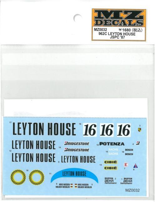 MZ0032 962C LEYTON HOUSE JSPC '87  (K社ミニッツ対応)