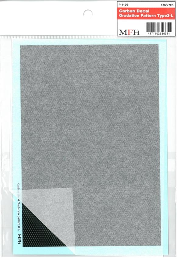 P1136  Carbon Gradation Pattern TYPE 2-L     118mmx172mm 1枚入