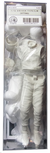 """R012-0019 DIVE NINE"""" Figure Series : 1/12scale """"Driver Type S.M (SITTING)"""