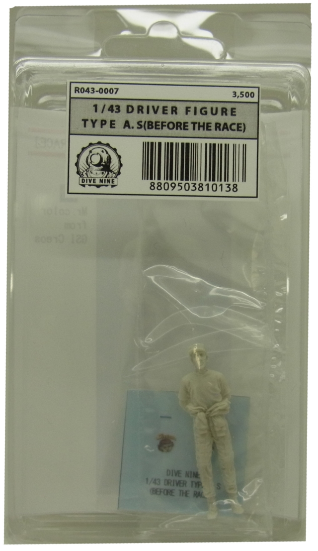 "R043-0007 : ""DIVE NINE"" Figure Series 1/43scale ""Driver Type A.S [Before the race]"