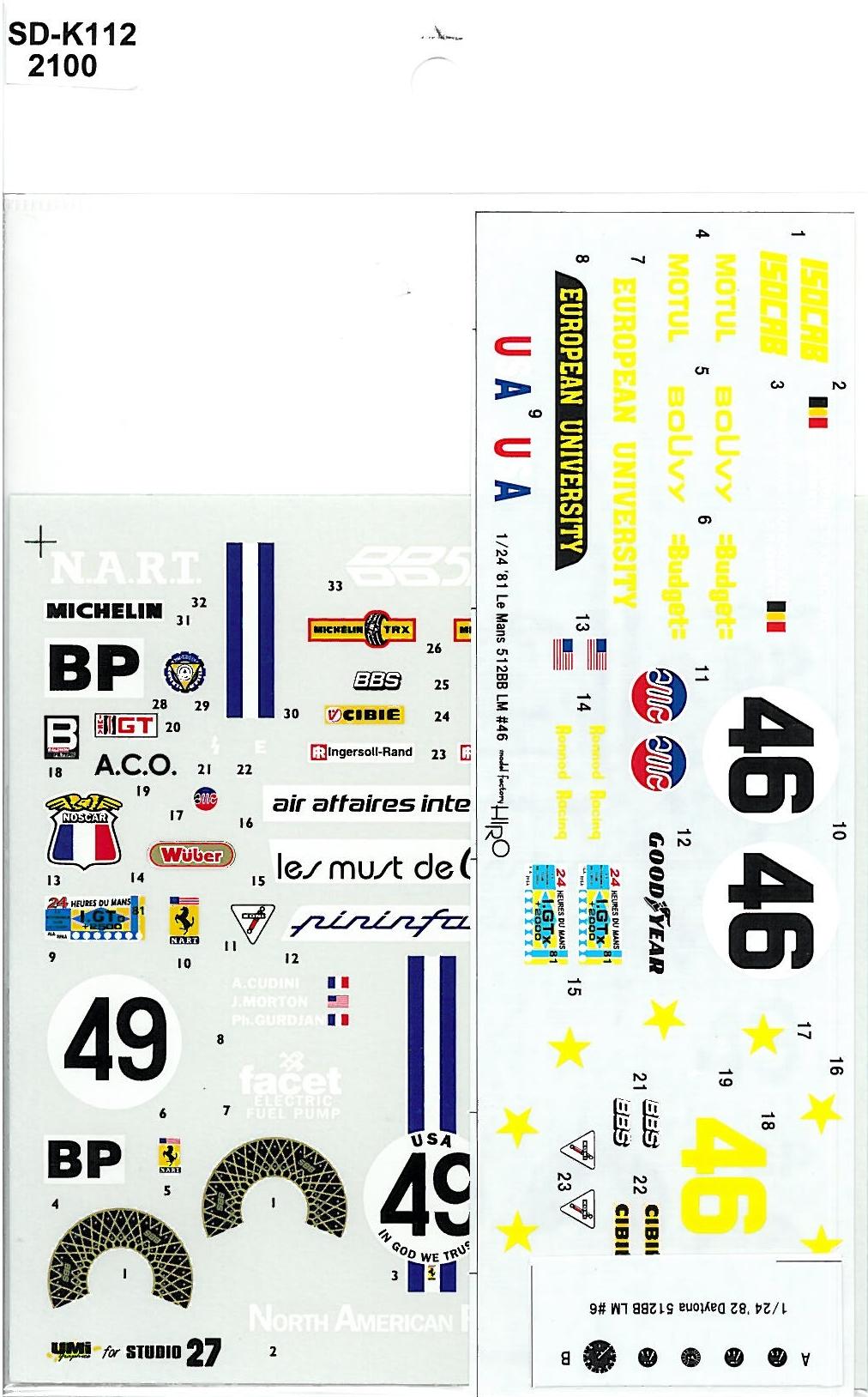 SDK-112 512BB LM NART#49 EU#46