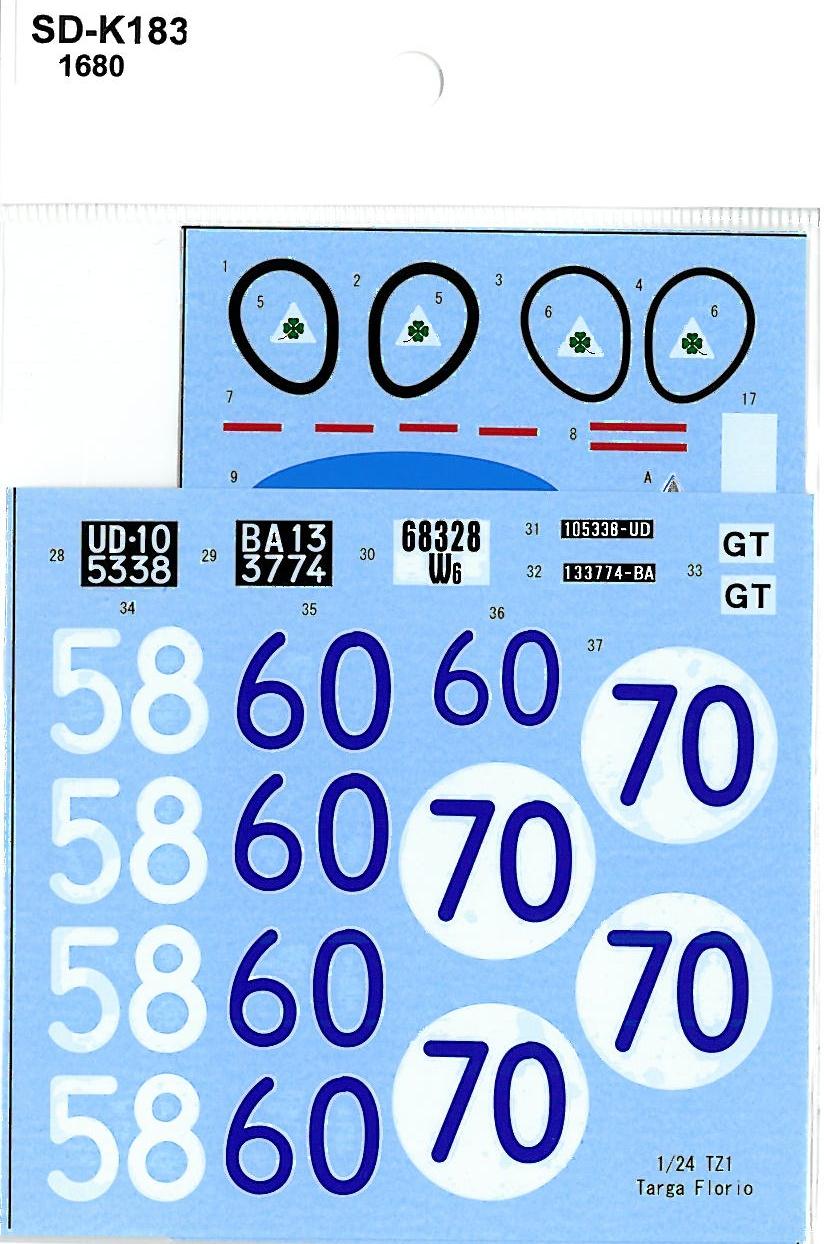 SDK-183 TZ1 Targa Florio 1964 n.58 / 1965 n.70/60