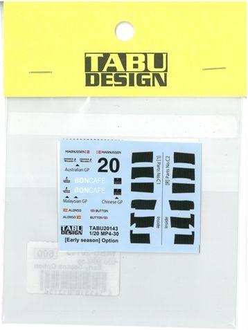 TABU20143  1/20  MP4-30 Early season Option (E社1/20対応)