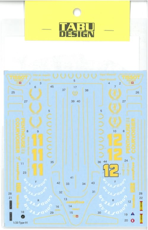 TABU20148 1/20 Type 91 Full Sponsor  (E社1/20対応)