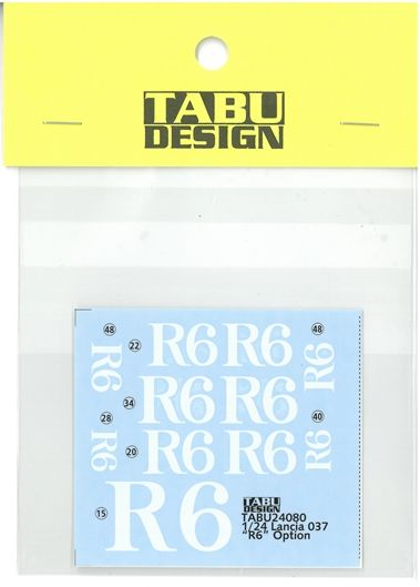"TABU24080 1/24 Lancia037 ""R6"" Option (H社1/24対応)"