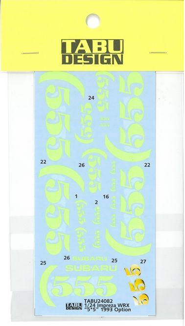 "TABU24082 1/24 Impreza WRX ""5・5"" 1993 Option (H社1/24対応)"