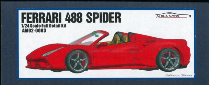 AM02-0003 FERRARI 488 SPIDER 1/24scale Full detailkit