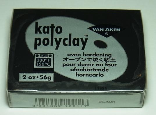 bp1036 オーブン樹脂粘土 ケイトポリクレイ  ブラック  Poly Clay