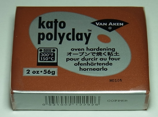 bp1048 オーブン樹脂粘土 ケイトポリクレイ  メタリックコパー Poly Clay