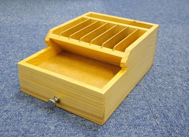 bp487  木製 卓上工具入れ