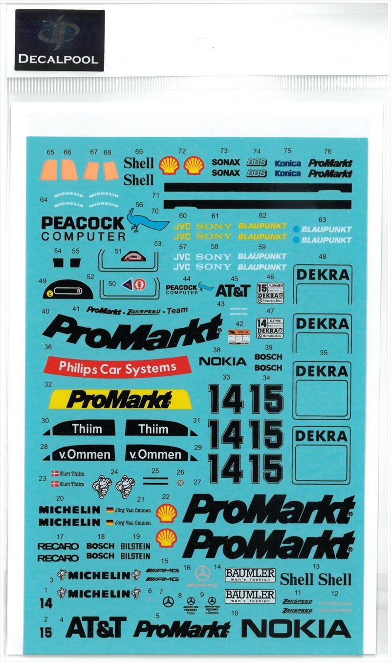 DP237 1/24 AMG Mercedes Benz Promerkt #14/15 C-Class DTM'94 (DECAL POOL)