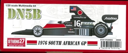 FD20003 DN5B 1976 SOUTH AFRICAN GP 1/20scale Multimedia kit