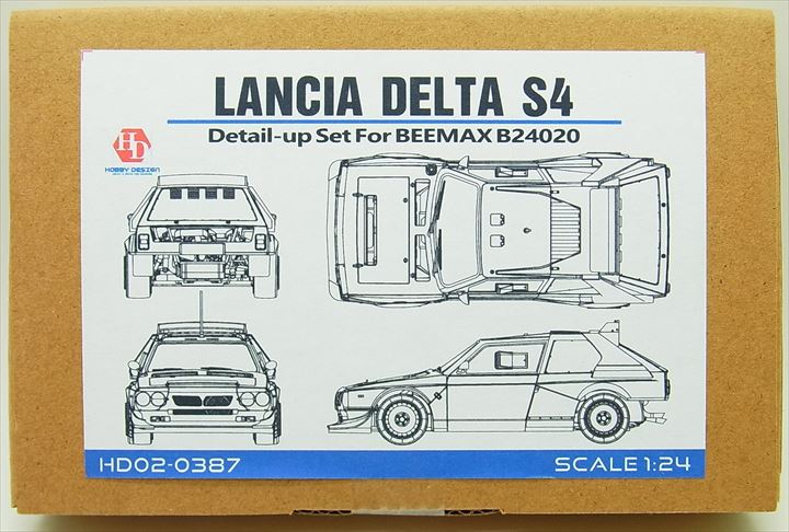 HD02-0387 1/24 LANCIA DELTA S4(For.BEEMAX B24020)   【HOBBY DESIGN】