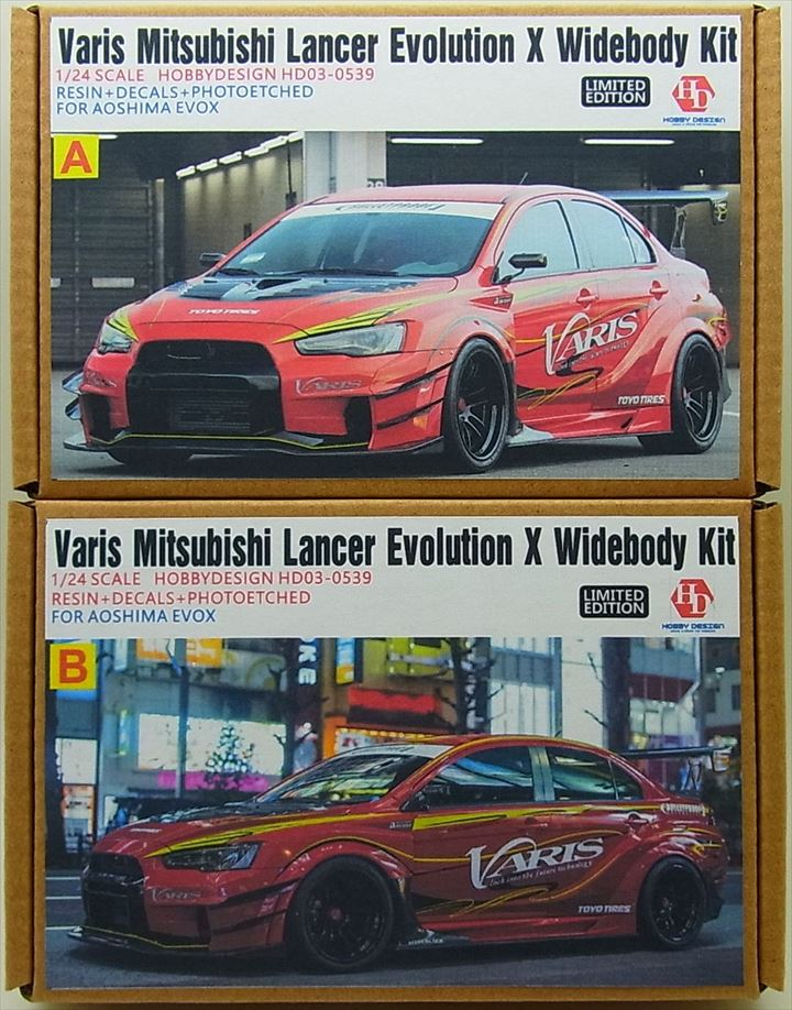 HD03-0539 1/24 Varis Mitsubishi Lancer Evolution X Widebody kit (For.A)    【HOBBY DESIGN】