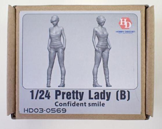 HD03-0569 1/24 Pretty Lady (B)  フィギュア Hobbydesign