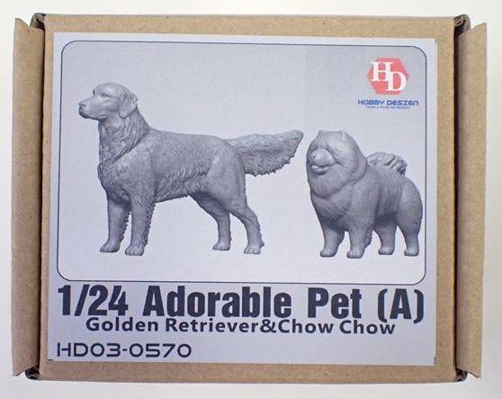 HD03-0570  1/24 Adoreble Pet (A) フィギュア Hobbydesign