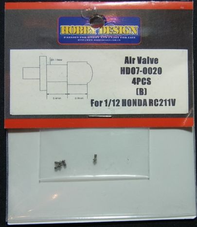 HD07-0020 1/12 Alr Valve 4pcs (B) For1/12HONDA RC211V 【HOBBY DESIGN】