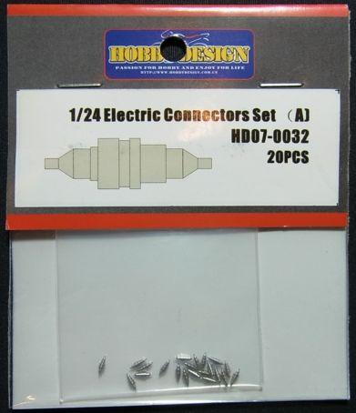 HD07-0032 1/24 Electrlc Connectors Set(a) 20pcs 【HOBBY DESIGN】
