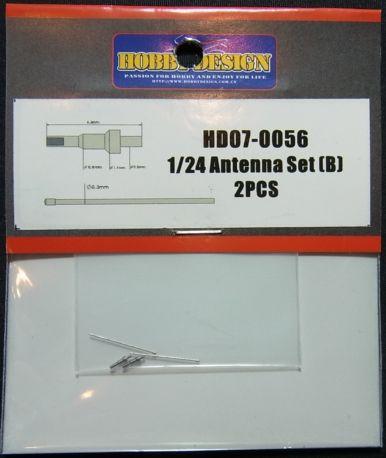 HD07-0056 1/24 Antenna Set(B) 2pcs 【HOBBY DESIGN】
