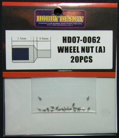 HD07-0062 WHEEL NUT (A) 20pcs 【HOBBY DESIGN】