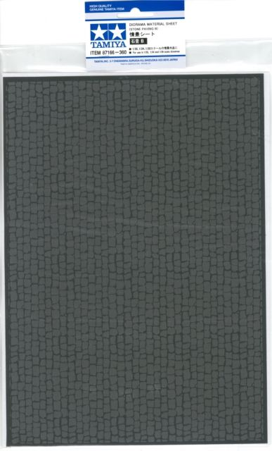 ITEM87166 情景シート 石畳B 1/35.1/24.1/20スケールの情景 TAMIYA製