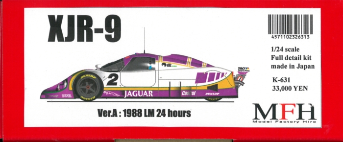 K631【Ver.A】 XJR-9 LM  :1988 LM 1/24scale Fulldetail Kit