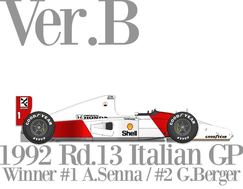 K719  【Ver.B】 McLaren MP4/7   1/12scale Fulldetail Kit (スポンサーデカール込み)