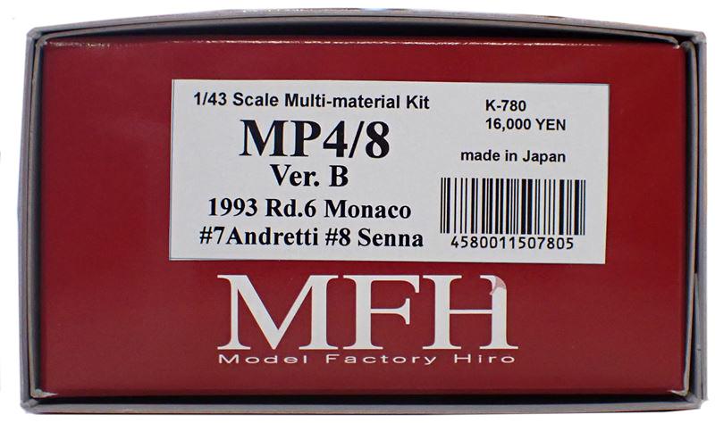 K780  【Ver.B】 McLaren MP4/8  1/43sacle Multi-Material Kit