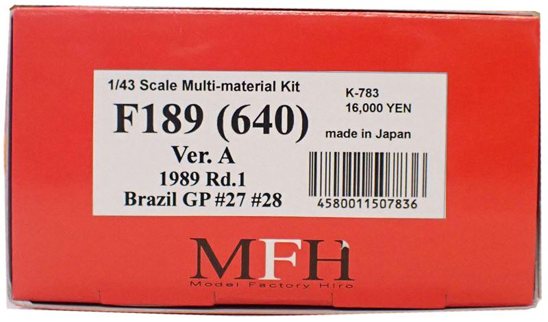 K783 【ver.A】 F1-89 (640)  1/43sacle Multi-Material Kit