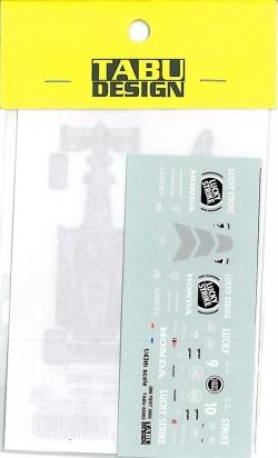 TABU43003 1/43 BAR006'05テストカラー(カラス)デカール(ミニチャンプス社対応)