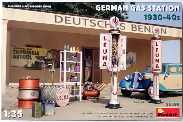 MA35598  1/35  ドイツガスステーション1930-40年代  【MiniArt】