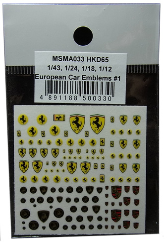 MSMA033 1/43.1/24.1/18.1/12 European Car Emblems #1