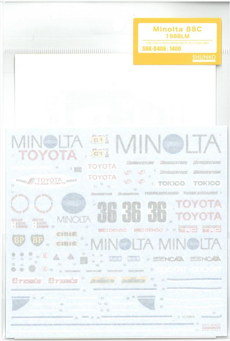 shk-d406 Minolta 88C 1988LM  (H社1/24ミノルタトヨタ88C LM対応)