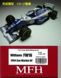 csb006 オーダーメイド完成模型 【 Ver.B】 Williams  FW16  San Marino GP  1/43scale Multi-Material Kit