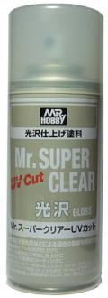 bp983  光沢 Mr.スーパークリアーUVカット(溶剤系スプレー)  B522