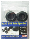 FP20154 1/20 P34 Rain Tyre Set GRADE UP PARTS (T社1/20 P34対応)