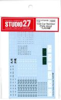 "FP24198 1/24 Car Namber Plate decal""九州沖縄""  (1/24対応)"