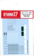 "FP24201 1/24 Car Namber Plate decal ""北陸/中部"" (1/24対応)"