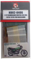 HD02-0406 1/12 KAWASAKI KH250-B3/B4(1978/1979) FOR HASEGAWA   Hobbydesign
