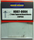 HD07-0084 φ1mm Tapered Head Rivets(20PCS) 【HOBBY DESIGN】