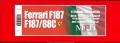K626 (Ver.C) Ferrari F187  1988 Rd.12 Italian GP  1/12scale Fulldetail Kit