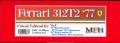 K687 【Ver.C】 Ferrari 312T2 '77   1/12scale Fulldetail Kit