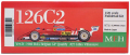 K732 126C2 【Ver.D】 1982 Rd.5 BelgianGP Qualify  1/20scale Fulldetail Kit