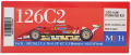 K796 126C2 【Ver.B】 1982Rd.3 U.S. West GP 1/20scale Fulldetail Kit