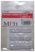 P1145  No.S11 : Hexagon socket flat head rivet-S [60 pieces]