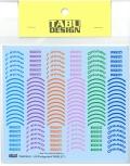 """TABU20153 1/20 Tire logo decal """"PIRELLI"""" (2)  1/20対応"""