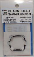 bp1275  幅3mm BLACK BELT    Sestbelt decal set
