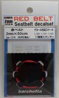 bp1278  幅2mm RED BELT    Sestbelt decal set