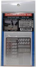 bp1306 Seatbelt Buckle set (American Type) 1/24~1/25scale